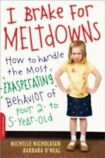 I Brake For Meltdowns - How to Handle Exasperating Behavior of Your 2-5 Year Old