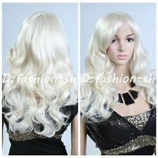 New Fashion Sexy Ladys Short Wig Vogue Blond Curly Wavy hair wigs + Free Wig Cap