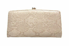 Gold Clasp Ladies Stylish Textured Clutch Purse