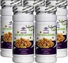 5 bottles Pure Natural Soy Isoflavones 400 mg 100 Capsules x 5 = 500