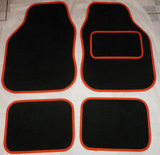 Car Mats Black and Orange trim car mats MG ZT ZS ZR TF MGF MG6 MGD GT