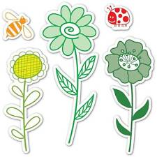 Sizzix Framelits Die Set 10PK  w/Stamps GARDEN FLOWERS  Hero Arts Lady Bug Bee