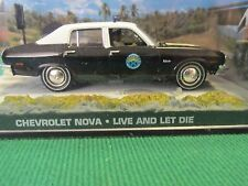 JAMES BOND CARS COLLECTION CHEVROLET NOVA POLICE CAR LIVE AND LET DIE