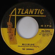 THE CARDINALS: Misirlou / The Door is Still Open ATLANTIC 45 R&B Soul HEAR