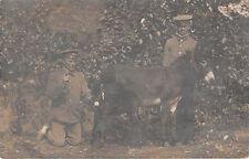 Soldados con ponny corriendo como ferrocarril post 1908 tren 338