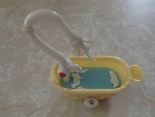 Littlest Pet Shop Bird Cat Dog RARE Bath Tub Bathtub Working Water Accessory