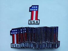 "50 USA #1 Flag Biker Embroidered Patches 3.25""x2"""