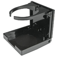 Black Plastic Folding Drink Holder with Adjustable Arms for Boats