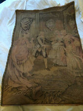 "Vintage Tapestry Wall Hanging Made In France 38"" x 25 1/2"""