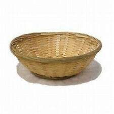 Set Of 3 Round Natural Wicker Round Hamper Bread Fruit Gift Storage, Bamboo Bask