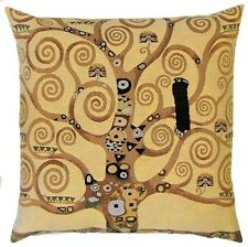 "NEW 18"" 45CM KLIMT TREE OF LIFE FROM STOCLET FRIEZE TAPESTRY CUSHION COVER 4987"