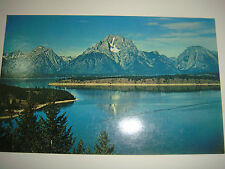 VTG 50's Real Picture PC: The Grand Teton Mt's. From Jackson Lake Shore Wyoming