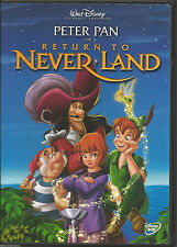 Disney Peter Pan in Return to Never Land (DVD, 2002) LN w/inserts