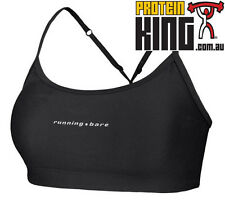 RUNNING BARE PUSH UP CROP TOP SIZE 12 BLACK WOMENS GYM SPORS FITNESS CLOTHING