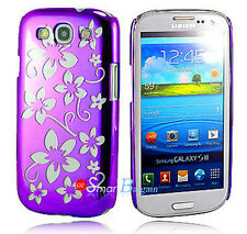 New PURPLE FLOWER HARD Cover Case For SAMSUNG S3 S III i9300 + Screen Protector