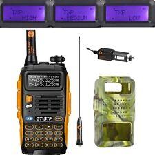 Baofeng GT-3 TP Mark III 1/4/8W Emisora Walkie Talkie Radio PMR + caso camuflaje