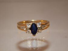 .91 tcw Natural Kashmir Blue Sapphire Diamond Ring F/VS1 Rich 18k YG Engagement
