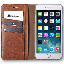 Pellegno Leather Cell Phone Wallet Case Vintage Tan For Apple iPhone 6 Plus
