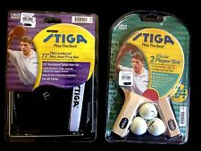 "Stiga Classic 2-Player Set Ping Pong Paddles  & 72"" Net And Post Set - New"