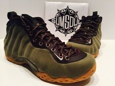NIKE AIR FOAMPOSITE ONE PRM PREMIUM OLIVE SUEDE BROWN GUM SOLE 575420 200 sz 17