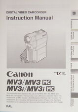 Canon MV3/MV3 MC/MV3i/MV3i MC Instruction Manual English Anleitung - (14328)