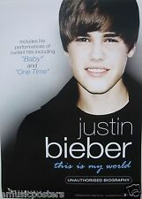 "JUSTIN BIEBER ""THIS IS MY WORLD - UNAUTHORIZED BIOGRAPHY"" HONG KONG PROMO POSTER"