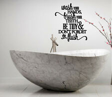 BATHROOM COLLAGE WORDS LETTERING WALL DECAL ART DECOR SUBWAY QUOTE STICKER