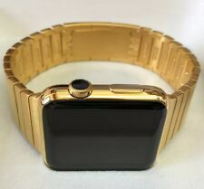 42MM Apple Watch *SERIES 2* 24K Gold plated, Gold Link Band CUSTOM RARE