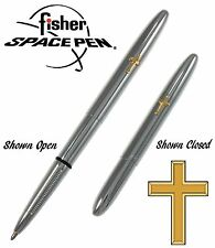 Fisher Space Pen #600CR / Chrome Bullet Pen with Gold Cross