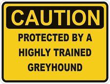 Dog Breed Greyhound Caution Sticker Pet for Bumper Car Door