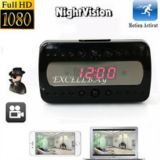 HD 1080P SPY Camera Hidden Camcorder P2P Alarm Clock Pinhole DVR For iOS Android