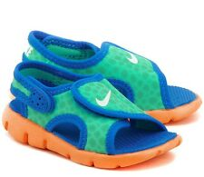 Nike Sunray Adjust 4 TD Kids Boys Girls Blue Green Orange Sandals Size UK 6.5