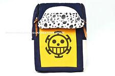 One Piece Trafalgar Law Logo blue/yellow Canvas Backpack bag (OPBP1)