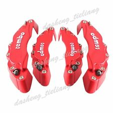 4pcs Universal Car Truck 3D Brembo Style Brake Disc Caliper Cover Kit Front+Rear