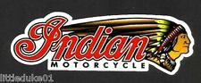 INDIAN MOTORCYCLE GAS GARAGE SERVICE STATION VINYL STICKER / DECAL NEW CHOPPER