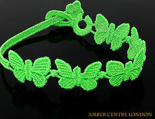 Genuine Italian Made Cruciani Bracelet- BUTTERFLY-FREEDOM-Fluorescent Green