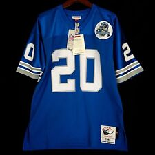 100% Authentic Barry Sanders Detroit Lions Mitchell Ness NFL Jersey Size 44 L