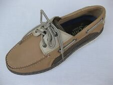 Sperry Topsider Mens Shoes NEW $110 Billfish Ultralite 3 Eye Linen Tan Boat 9 M
