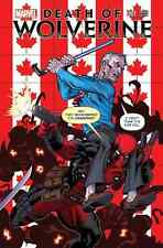 DEATH OF WOLVERINE DEADPOOL & CAPTAIN AMERICA 1 CANADA CANADIAN McNIVEN VARIANT