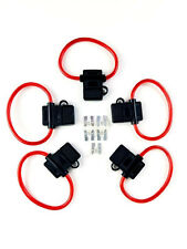 5/Pack) 8 Gauge ATC In-line Fuse Holder + 25A AMP Fuse w/Cover Car Truck Install