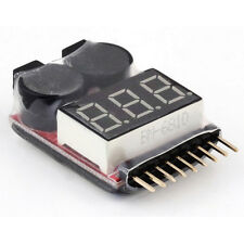 1S-8S LED RC Lipo Li-ion Battery Low Voltage Meter Alarm Test Buzzer Monitor GT