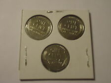 1- SETS-1943-p-D-s-lincoln steel pennys set-WORLD WAR-II---3 coins-#ll