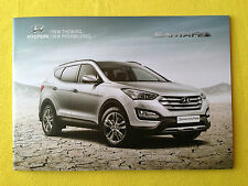 Hyundai Santa Fe official dealer marketing brochure price list October 2013 MINT