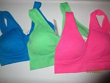 3 Femina Lingerie Free Size Sports Bras with Removable Pads, Free Size, Best S-M
