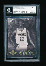 BGS 9 ANDREW WIGGINS 2014-15 PANINI COURT KINGS RC ROOKIE JERSEY NUMBER #D 22/49