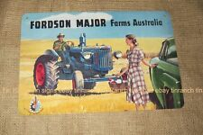 FORDSON MAJOR Tractor TIN SIGN Australian farm NEW vintage advertising Australia
