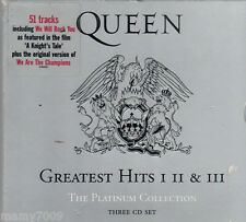 CD= Queen greatest hits I II & III =Platinum collection =3cd