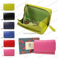 Vitali 100% Real Leather Credit Card Holder Coin Purses Colourful Wallet Purse