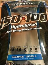 Dymatize Iso 100 Hydrolyzed Protein 5 Single Serving Packets Gourmet Vanilla