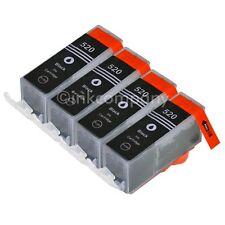 4 cartuchos de tinta Canon + chip pgi-520 Black IP 4600 IP 4700 nuevo